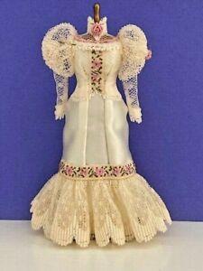 Miniature Rose Victorian Mannequin Dress OOAK 1:12