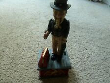 Mechanical Cast Iron Uncle Sam Coin Bank , Works
