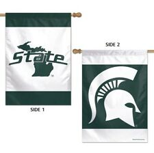 """Michigan State Spartans 28""""X40"""" Double Sided Banner Flag Brand New Wincraft"""