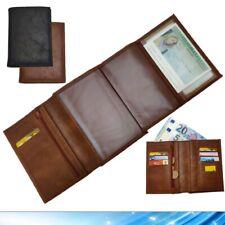 Portafoglio in pelle Verticale Tascone Uomo Donna porta monete carte banconote