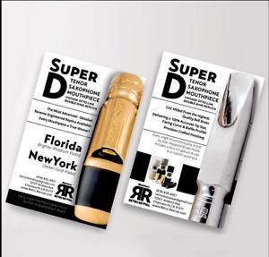 RETRO-REVIVAL SUPER D FL8* SILV REPLICA VINT LINK DOUBLE RING TENOR SAX BLEM NEW