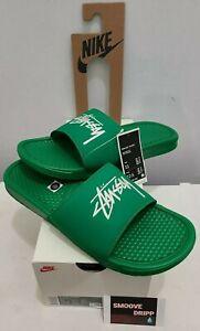 Nike Benassi X Stussy-Sandal Slides (Stussy Green)(Size 11 M / 12.5W) Authentic✅