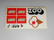Lego® Classic Zubehör Sticker/Aufkleber ZOO aus Set 258 von 1976 Neu