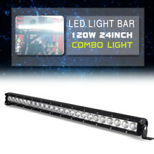 """120W 24"""" LED Work Light Bar 4WD SUV Truck ATV UTE Offroad Fog Combo JEEP Driving"""