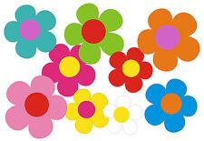 Blumen Aufkleber Hippie Blumen Auto Aufkleber: Mini 09-Set 5 - 26 Stk. - bunt