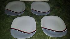 "Lot of 4 Mikasa Tempo Eighty Sonar Bread Dessert Plate 8.25"" CE 910"