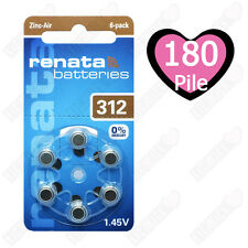 30 Batterie Renata MARATONE Za312 apparecchi acustici 165mah 1 45v Zinco RAYOVAC