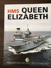 HMS Queen Elizabeth Aircraft Carrier Arrival Portsmouth VIP 128p Magazine Rare