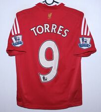 Liverpool England home football shirt 08/10 #9 Torres Adidas KIDS Size M