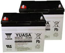 2x Yuasa Batteries de Golf et Mobilité - REC36-12