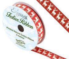 Printed Christmas Cardmaking & Scrapbooking Ribbon Spool
