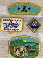 Vintage Boy Scouts Of America Patch Lot 4 Scout Patches 70s 80s BSA Patch Lot 4