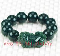 Wholesale Chinese Hetian jade Mythical Animals Beaded Bracelet Charm Jewelry P06