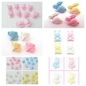 10 novelty animal buttons baby, childrens, craft supply 12mm / 15mm