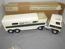 "Vintage Ertl 1970's Plantation Thoroughbreds Horse Truck /w Horse Steel 22"" NIB"
