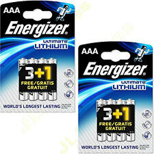 4 Pack AAA ENERGIZER Ultimate Lithium Batteries