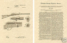 WINCHESTER 1900 BOLT ACTION RIFLE PATENT Art Print READY TO FRAME!! Browning Gun