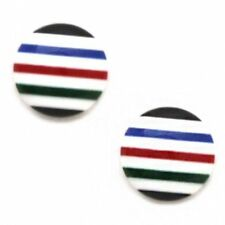 Enamel Stud Round Costume Earrings without Stone