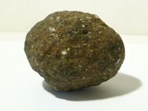 Antique Post Medieval  Solid Granite Cannon Ball Ballista Egg Shaped