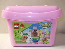 Lego Duplo Rabbit & Garden Complete 4623 Bunny Carrots Bowl Bucket Girls Toys