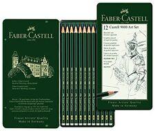 FABER-CASTELL - 9000 ARTISTI Qualità Matite Grafite - 12 Set-Nuovo di zecca Tin