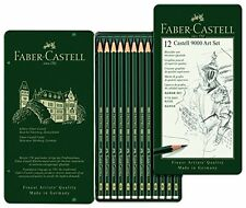 Faber-Castell - 9000 lápices de grafito de calidad de artistas-Conjunto de 12-totalmente Nuevo Estaño