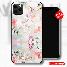 Romantic Watercolor Floral Glass Phone Case Samsung Huawei iPhone Xiaomi Gift