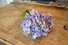 Pretty Vintage Purple/Blue Faux Silk Hydrangea, Individual Artificial Flowers