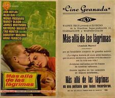 Año 1955. Programa de CINE. Título película: Más allá de las lágrimas.