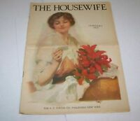 JAN 1915 HOUSEWIFE magazine FLOWERS