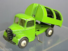 "DINKY TOYS MODEL No.252 BEDFORD REFUSE WAGON ""ALL GREEN VERSION""  RARE"