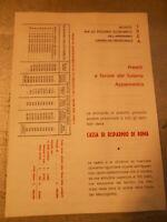 Vecchia pubblicita' PRESTITI A FAVORE DEL TURISMO APPENNINICO CRR -vintage COLLE