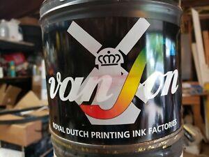 New 5 lb. Van Son Pantone Yellow Printing Ink