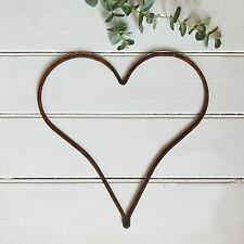 39cm Rusty Metal Large Heart Iron Wire Hanging Wall Garden Wedding Decoration