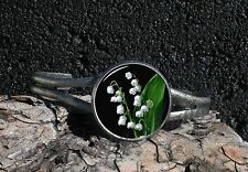 Lily Of The Valley Poisonous White Flowers Image Cuff Bracelet