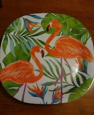 "Flamingo Melamine 11"" Dinner Plates set of 4"