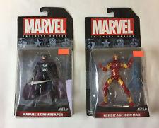 lot of two MARVEL INFINITE figures ~ HEROIC AGE IRON MAN, GRIM REAPER