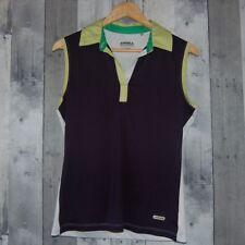 Annika Sleevless Golf Polo Shirt Polyester Blue/green Women's Size Small