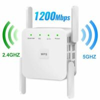 Wireless Router WiFi Repeater 2.4G 5G WiFi Signal Booster 1200Mbps 300Mbps New