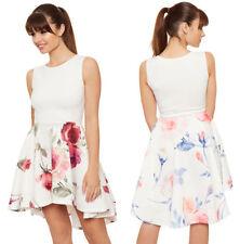 Vestiti da donna floreale multicolore con girocollo