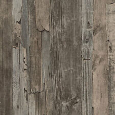 Textured Vinyl Wallpaper Wood Effect Grains Boards Paste The Wall AS Creation