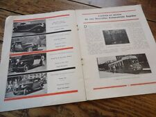 RARE BULLETIN COMMERCIAL USINES RENAULT N°61 1933 TRACTEUR FOURGONNETTE ELEGANCE