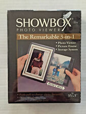 Showbox Photo Viewer 40 Photos Push Pull to Change Photos in Frame Sealed