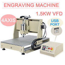 4 Axis CNC 6040 Router USB VFD Engraving Metalwork Carver Machine 1.5KW From DE