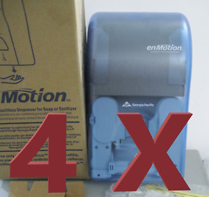 FOUR (4X) Automated Touchless Soap / Sanitizer Dispensers 52052 BLUE