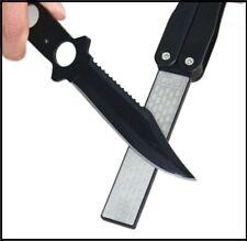 "5""Double Sided Folded Pocket Diamond Knife Sharpening Stone Sharpener Tool BLACK"