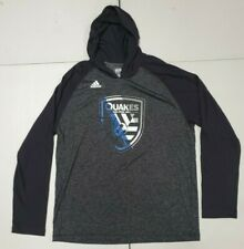 San Jose Earthquakes MLS Adidas Men's Charcoal Long Sleeve With Hoodie Size XL