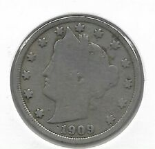 Rare Very Old Antique 1909 US Liberty V Nickel Collection Coin USA 5 Cent Money