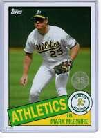 Mark McGwire 2020 Topps 1985 35th Anniversary 5x7 #85-75 /49 Athletics