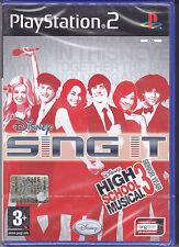 Ps2 PlayStation 2 DISNEY SING IT HIGH SCHOOL MUSICAL 3 SENIOR YEAR Nuovo Italian